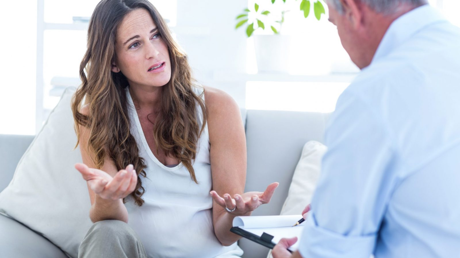 Pregnant woman finding out she has Group B Strep
