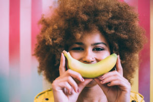 woman-with-banana-as-smile