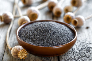 bowl of poppy seeds